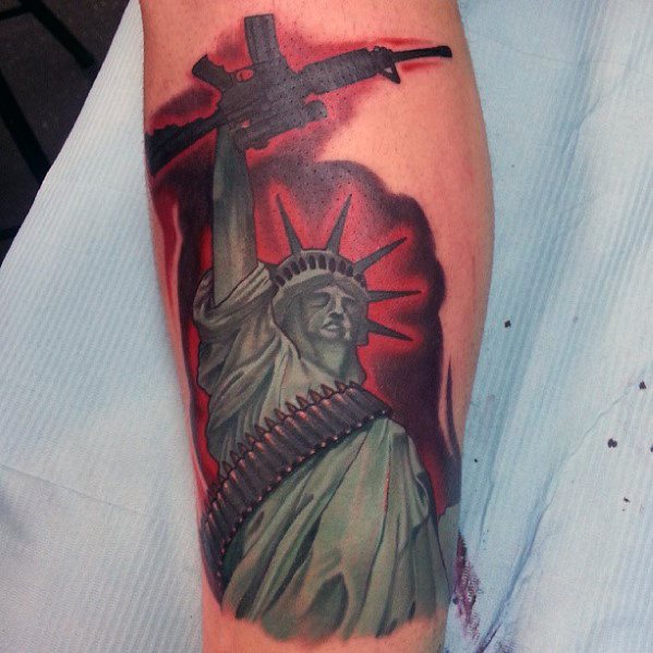 Mens Tattoo Designs Ar 15 Themed