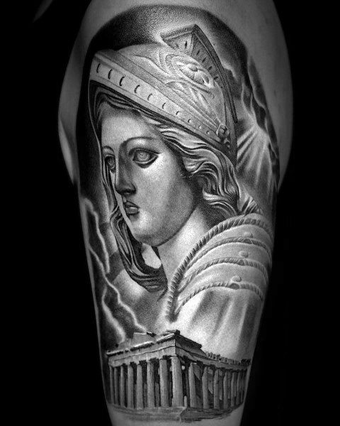 Mens Tattoo Designs Athena Themed