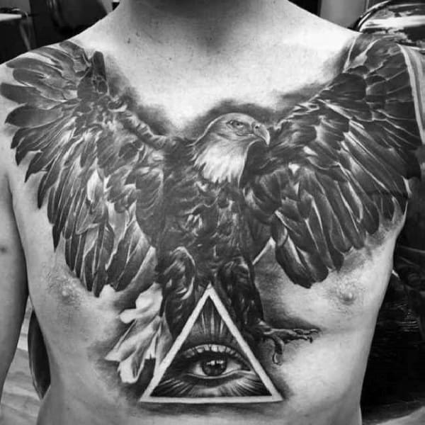 Mens Tattoo Designs Badass Eagle Themed