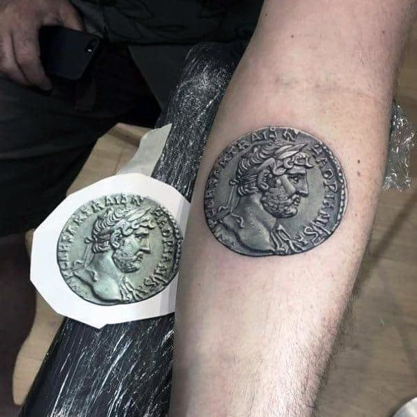 70 Coin Tattoo Ideas For Men Currency Designs