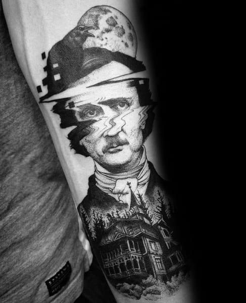 Mens Tattoo Designs Edgar Allan Poe Themed