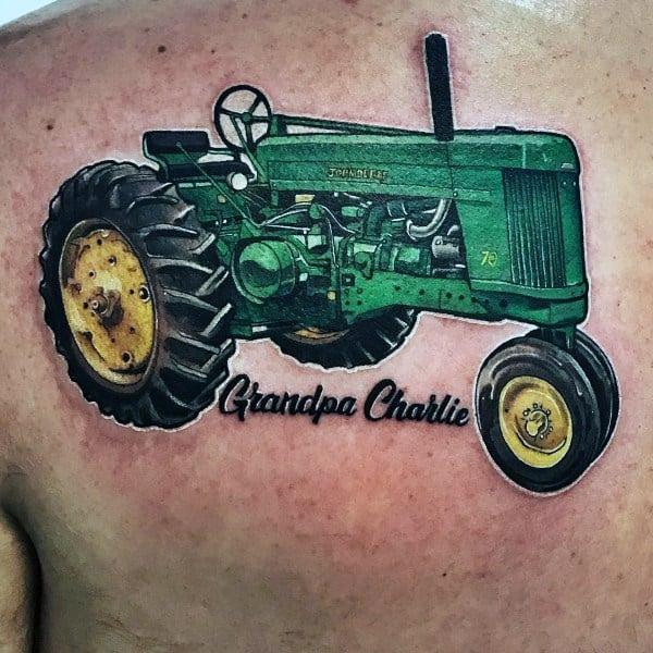 Mens Tattoo Designs Farming Themed