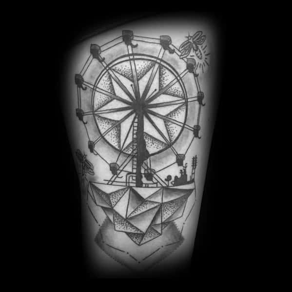 Mens Tattoo Designs Ferris Wheel Themed