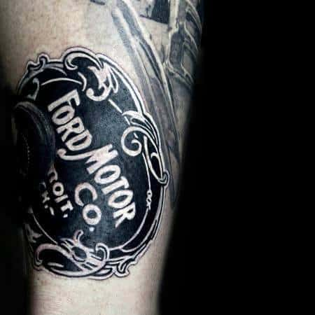 Mens Tattoo Designs Ford Themed