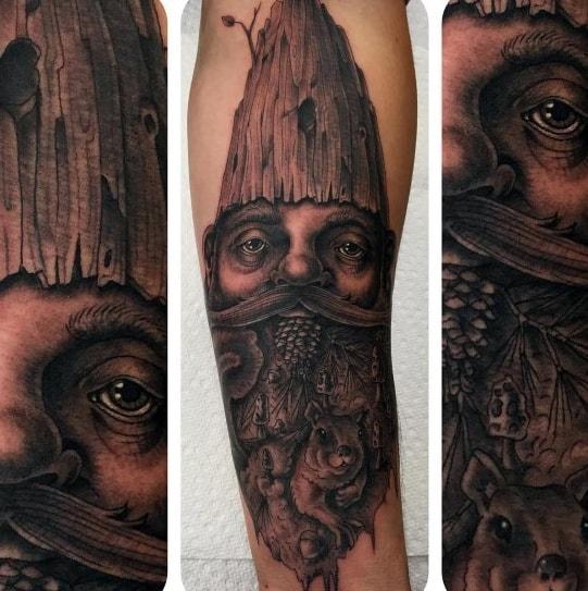 Mens Tattoo Designs Gnome Themed