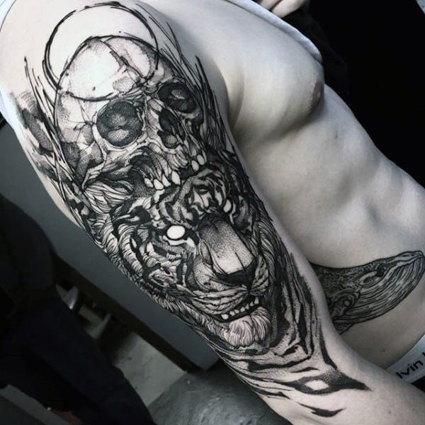Mens Tattoo Designs Gothic Themed