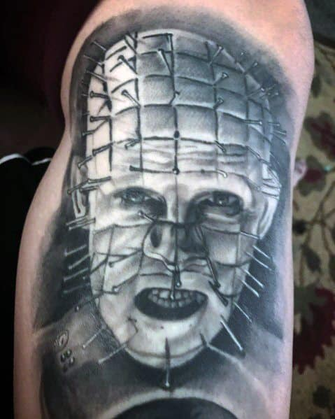 Mens Tattoo Designs Hellraiser Themed