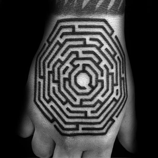 Mens Tattoo Designs Labyrinth Themed