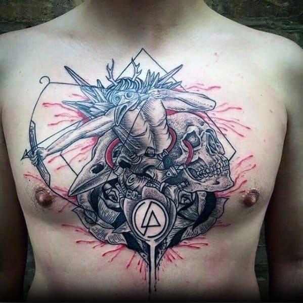 Mens Tattoo Designs Linkin Park Themed