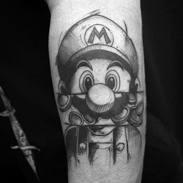 Mens Tattoo Designs Mario Themed