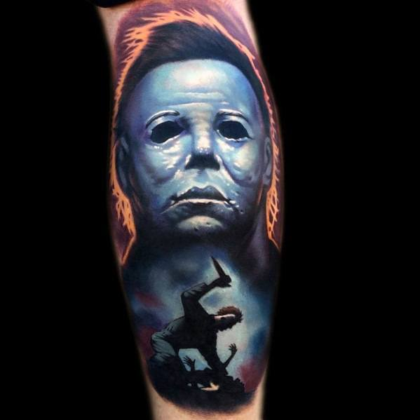 Mens Tattoo Designs Michael Myers Themed
