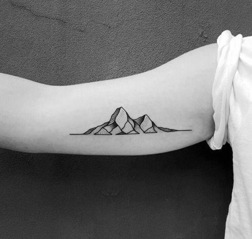 Mens Tattoo Designs Minimalist Mountain Themed