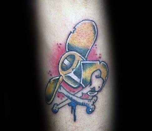 Mens Tattoo Designs Propeller Themed
