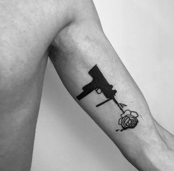 Mens Tattoo Designs Uzi Themed