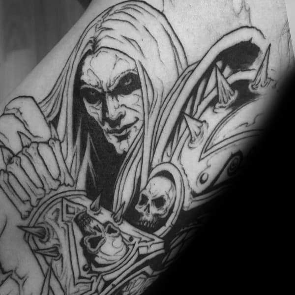 Mens Tattoo Designs World Of Warcraft Themed
