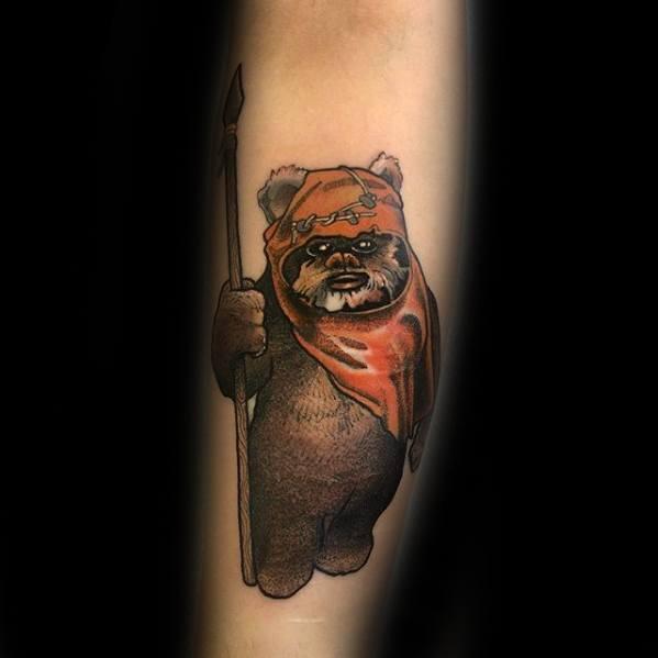 Mens Tattoo Ewok Design