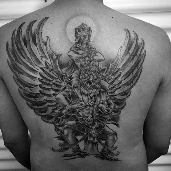Mens Tattoo Garuda Design