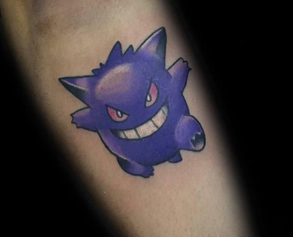 Mens Tattoo Gengar Design