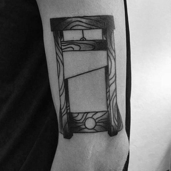 Mens Tattoo Guillotine Design