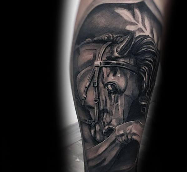 Mens Tattoo Horse Design