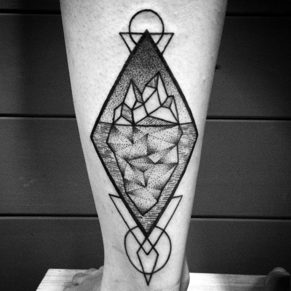 Mens Tattoo Iceberg Design