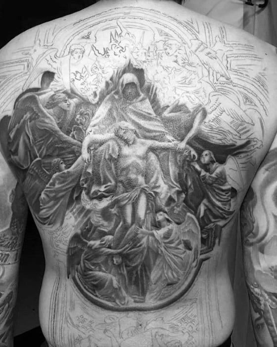 Mens Tattoo Ideas With 3d Jesus Design