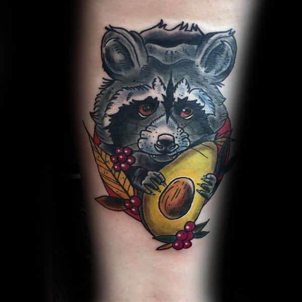 Mens Tattoo Ideas With Avocado Design