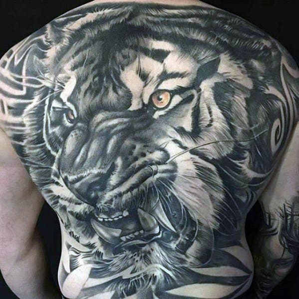 Mens Tattoo Ideas With Awesome Back Design