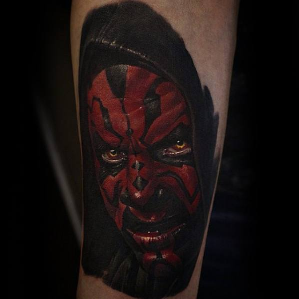 Mens Tattoo Ideas With Darth Maul Design