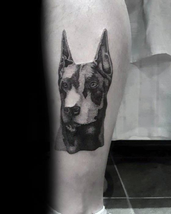 Mens Tattoo Ideas With Doberman Dog Design