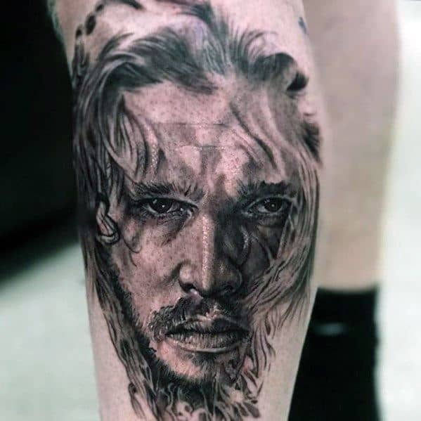 Mens Tattoo Ideas With Game Of Thrones Design On Arm