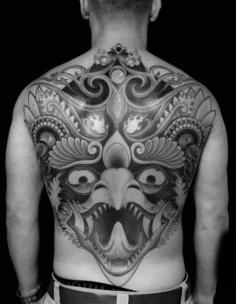 Mens Tattoo Ideas With Garuda Design