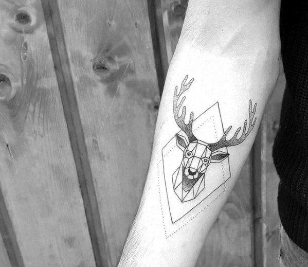 Mens Tattoo Ideas With Geometric Animal Design