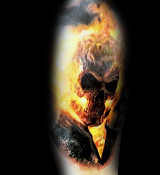 Mens Tattoo Ideas With Ghost Rider Design