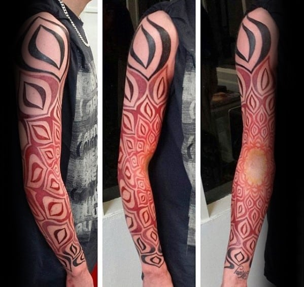 Mens Tattoo Ideas With Gradient Design