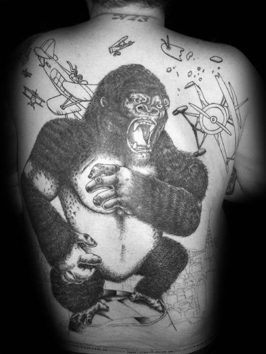 Mens Tattoo Ideas With King Kong Design
