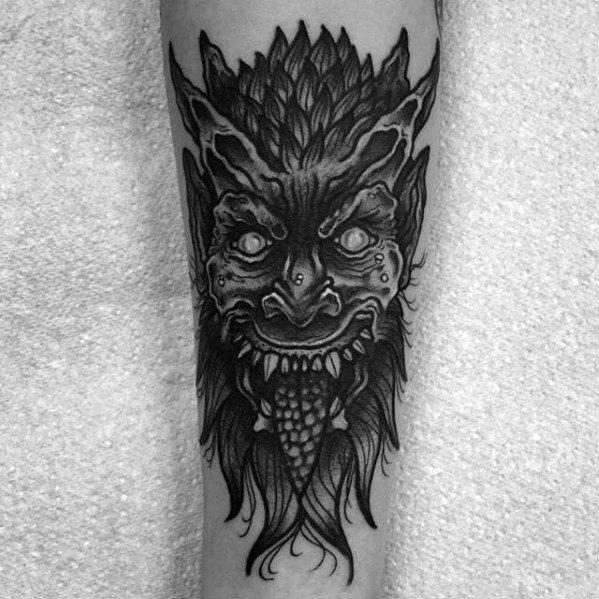 Mens Tattoo Ideas With Krampus Design
