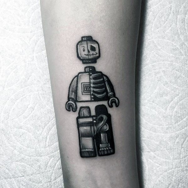 Mens Tattoo Ideas With Lego Design