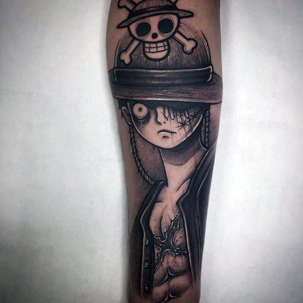 Mens Tattoo Ideas With One Piece Design Forearm
