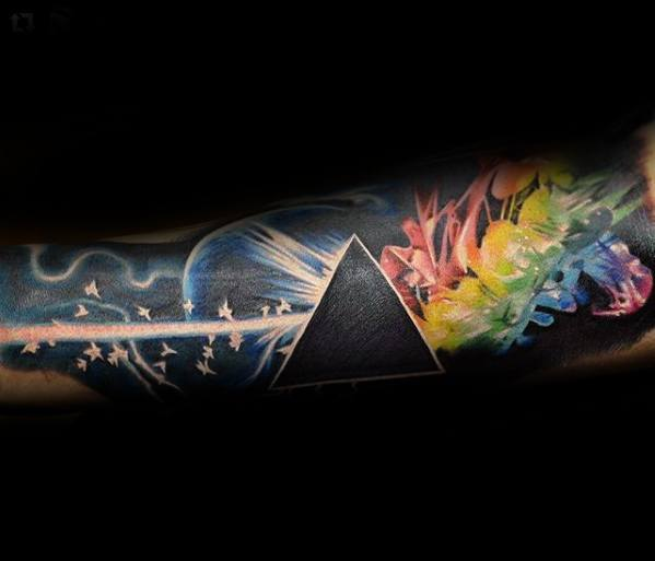 Mens Tattoo Ideas With Pink Floyd Design Forearm