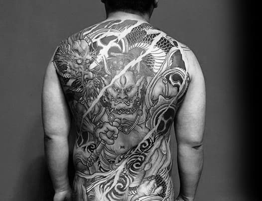 Mens Tattoo Ideas With Raijin Design