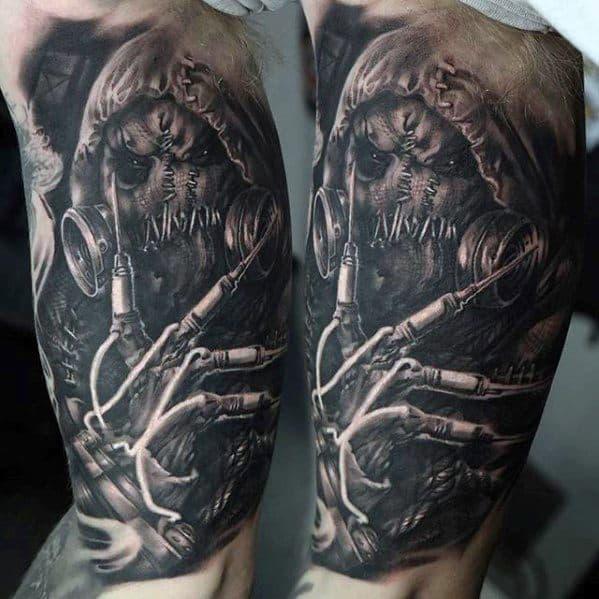 Mens Tattoo Ideas With Scarecrow Design