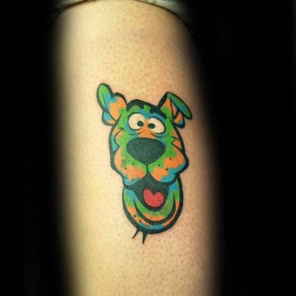 Mens Tattoo Ideas With Scooby Doo Design