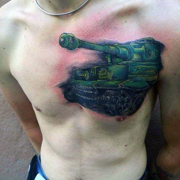 Mens Tattoo Ideas With Tank Design