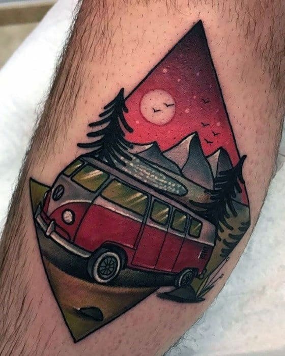 Mens Tattoo Ideas With Volkswagen Wv Design