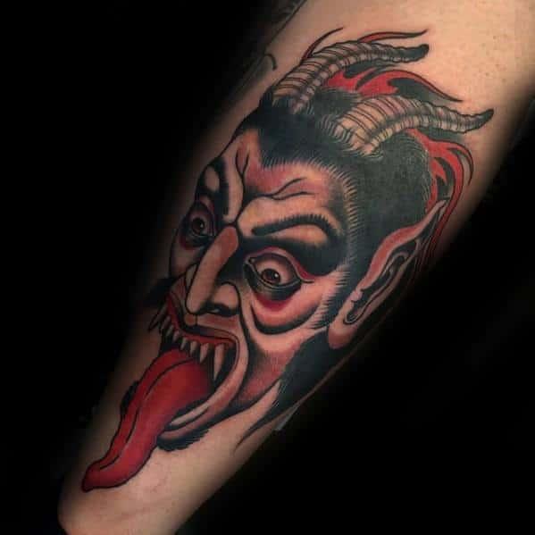 Mens Tattoo Krampus Design