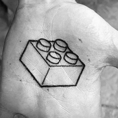 Mens Tattoo Lego Design