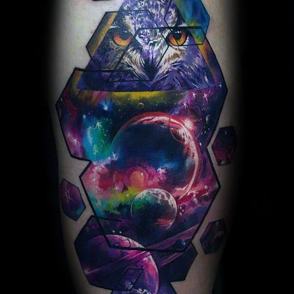 60 Nebula Tattoo Designs For Men - Interstellar Cloud Ideas