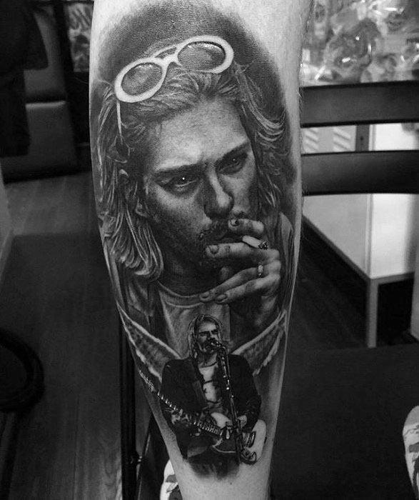 Mens Tattoo Nirvana Design