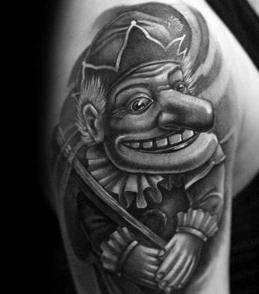 Mens Tattoo Puppet Design